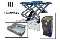 Pont ciseaux 3.5TN 220-380v à encastrer + coffres TSC3500X2iL