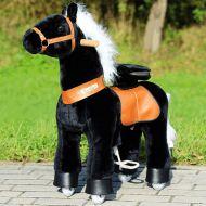 cheval mecanique pour enfants  de 4 a  10 ans BLACK
