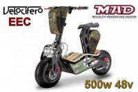 Scooter électrique 6'' Velocifero 500W 48V MAD EEC.